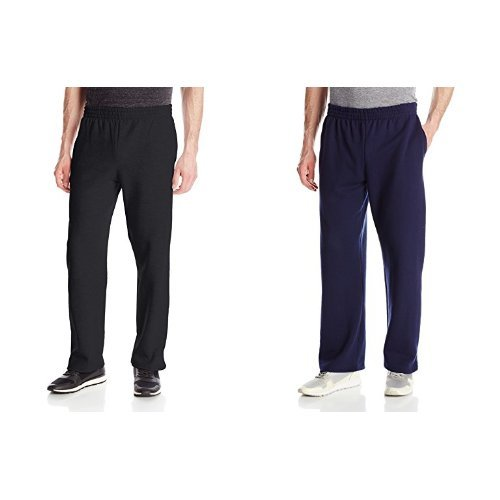 2 Pack of Fruit of the Loom Men's Pocketed Open-Bottom Sweatpants Now $10.50