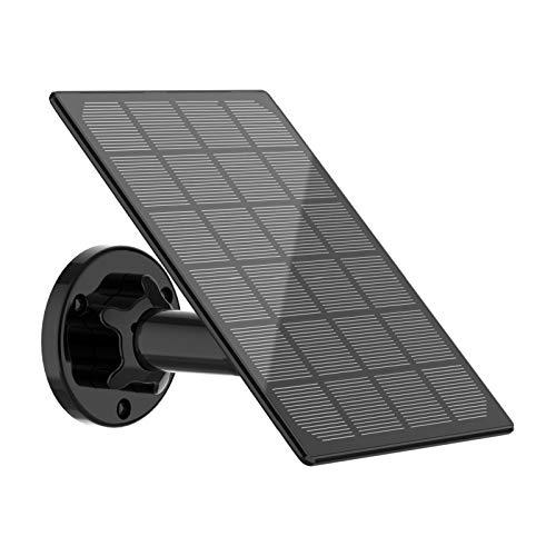 Panel Solar para cámara de Seguridad inalámbrica Compatible con DC 5V Recargable Battary Powered CAM, energía Solar Continua para cámara (sin cámara)