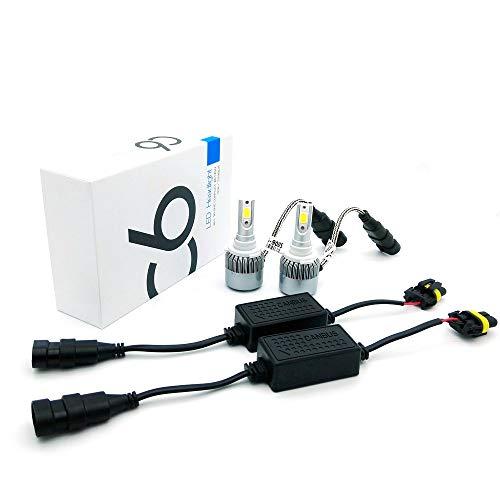 Heinmo Kit de phares de voiture Canbus LED 36 W 3800 lm COB avec ampoule LED pour phare antibrouillard et plug H1 H3 H7 HB3 HB4 9005 9006 880 881 (H3)