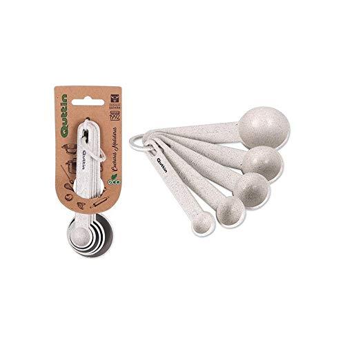 Haioo Set mit 5 Messlöffeln aus Kunststoff, umweltfreundlich, biologisch abbaubar, für Sauce, Puder, Küche