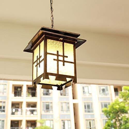 Solares Balizas Jardin Lámparas Solares Para Jardí Impermeable al aire libre de techo Luces de cristal colgante linterna de jardín que la cortina de lámpara E27 Balcón del pasillo del pasillo del pórt