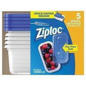 Container SML RCTNGL 5CT by ZIPLOC MfrPartNo 70932