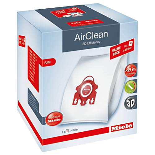 Miele AirClean 3D XL-Pack FJM Dust Vacuum Bag, White