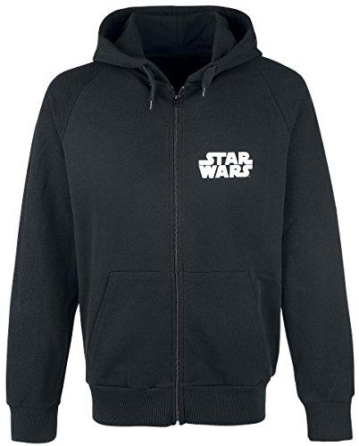 Star Wars Classic Darth Vader Sweat-Shirt à Capuche, Noir, M Homme