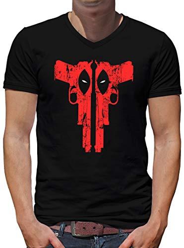 TShirt-People Deadpool Weapon T-shirt à col en V pour homme - Noir - X-Large