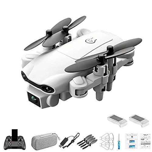Gobutevphver V9 Mini Drone 4K Camera 2.4Ghz WiFi FPV Drone Altezza Mantenere Droni Pieghevole Rc Quadcopter Elicottero Giocattoli Regali - Grigio con Doppia Fotocamera 4K,2Xbatterie