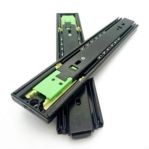 Lade-geleider glijdt, terugvering, geen noodzaak om een handgreep te installeren, driedelige geleiderail, soepel glijden, geen lawaai, sterk draagvermogen, een paar bevat twee