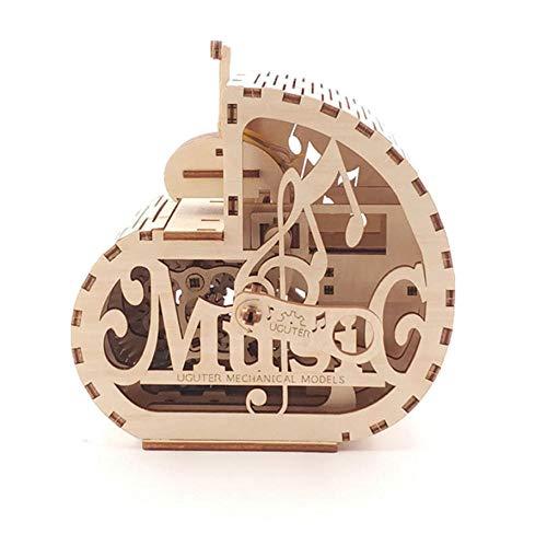 rrff DIY Holzschnecke Spieluhr Modell Mechanische Übertragung Puzzle Modell Montage Spielzeug