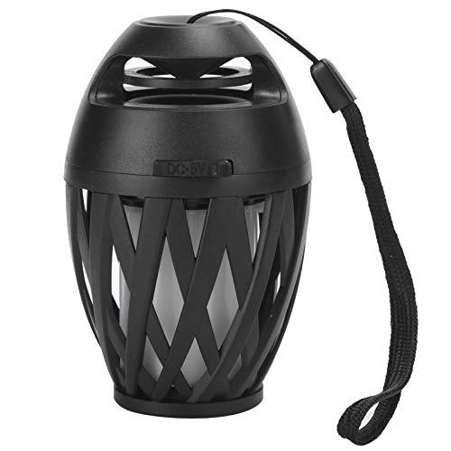 Nicoone Altavoz de llama LED, Altavoz Bluetooth al aire libre, 2 en 1 Lámpara de atmósfera de llama bajo mejorado, Altavoz estéreo inalámbrico portátil al aire libre