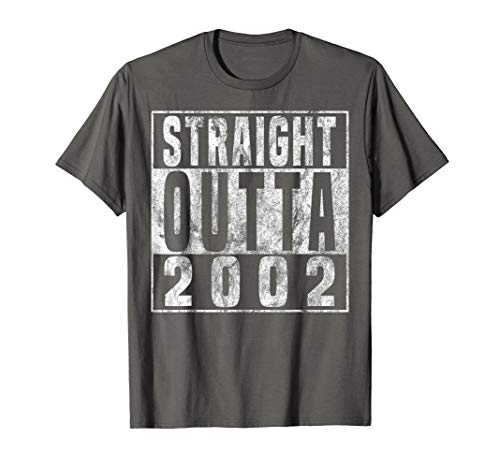 Straight Outta 2002 18th Birthday Gift 18 year old T-Shirt