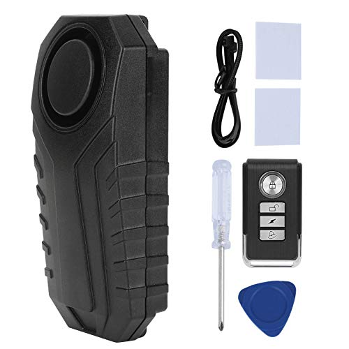 Ayunjia Motocicleta Antirrobo Alarma Vibración 113Db Alarma de Seguridad Inalámbrica Control Remoto para Bicicleta Moto Coche