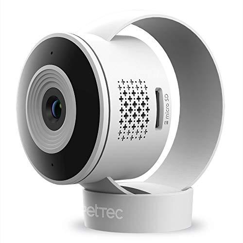 PetTec Cam Lite | Überwachungskamera für Haustiere mit App, Bewegungsmelder & Handyübertragung | WiFi Kamera kabellos | WLAN Kamera Indoor mit Nachtsicht | Katzenkamera, Hundekamera, Haustierkamera