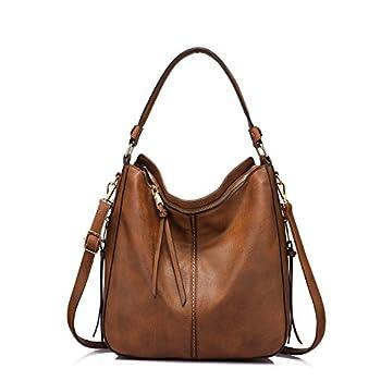 Handbags for Women Medium Designer Ladies Hobo bag Bucket Purse Faux Leather