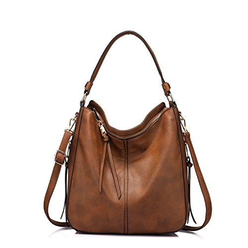 Handbags for Women Medium Designer Ladies Hobo bag Bucket Purse Faux Leather