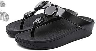 QIMITE La fasciite Plantaire Haut Talon Plate-Forme Sandales Femme Chaussures Chaussons d/ét/é Straped Plage Tongs Femmes Diapositives Solide