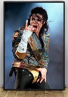 ysldtty Canvas Painting Poster Michael Jackson Carteles E Impresiones Imagen De Arte De Pared para Sala De Estar Decoración para El Hogar C244 Sin Marco 40cmx60cm
