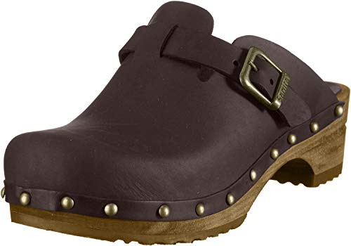 Sanita Damen Kristel open Clogs, Braun (Antique Brown 78), 39 EU