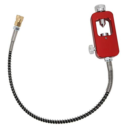 Ever Adaptador de Buceo, Adaptador portátil de Buceo 8MM Adaptadores de Botella Grande a Botella pequeña Cabezas con Tubo de Correa(Rojo)