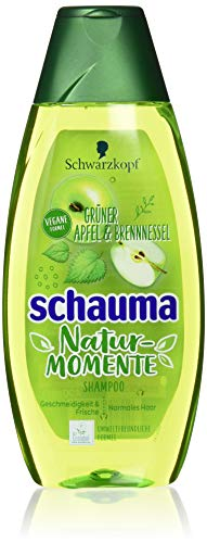 Schwarzkopf Schauma Shampoo, Natur-Momente Grüner Apfel und Brennnessel, 5er Pack (5 x 400 ml)