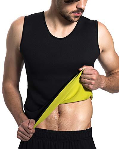 Roseate Men's Body Shaper Hot Sweat Workout Tank Top Slimming Sauna Vest Neoprene Compression Thermal Shirt 3XL