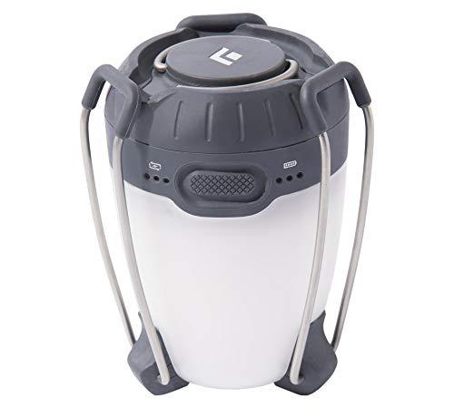 Black Diamond Unisex Adult Apollo Lantern Graphite Ladegerät in einem-helle LED-Laterne zum Campen und Laden von elektronischen Geräten/Mini-Campinglampe, max. 225 Lumen, 1