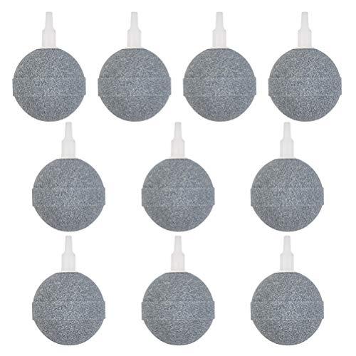 Piedra de Aire Redonda 5cm 10PCS Difusor de Burbujas Piedras Porosas para Acuario Bomba de Tanque de Peces Piedra Aire Difusor Minerales Burbujas Piedras Aire Piedras Difusor Aire Poroso Bomba