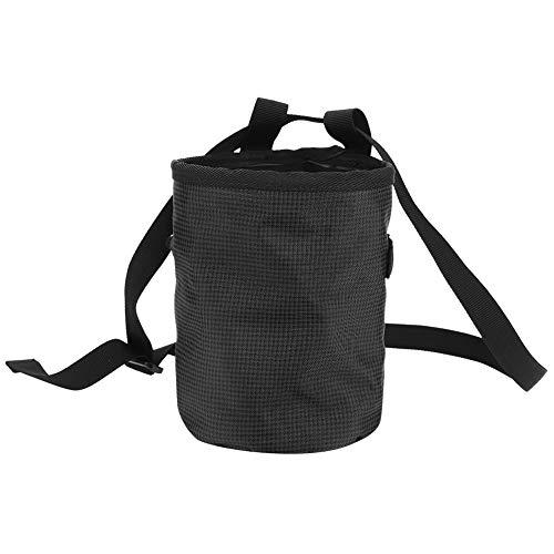 lahomie Chalkbag,Chalk Bag Magnesiabeutel Kreide Tasche Magnesium Powder Bag für Outdoor Klettern Gymnastik Pole Dance(schwarz)