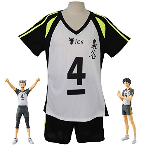 YZJYB Haikyuu!! Cosplay Costume T-Shirt Yu Nishinoya High School Volleyball Club Jersey Uniform Workout Outfit for Men's 2 Pieces Short Sleeve T-Shirt Top And Shorts Set Running Tracksuit,S
