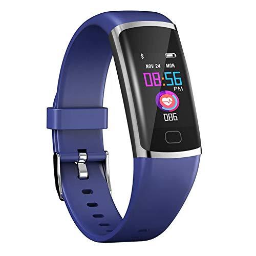 Monitor de actividad física con monitor de frecuencia cardíaca y sueño, Bluetooth, impermeable, podómetro y contador de calorías.