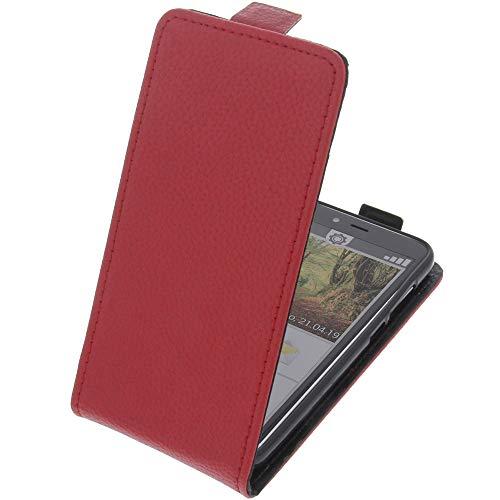 foto-kontor Tasche für Emporia Smart 3 Mini Smartphone Flipstyle Schutz Hülle rot