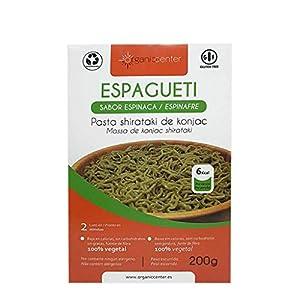 Pasta Konjac OrganicCenter - Surtido y variedades de diferentes sabores (Espaguetis Espinaca)