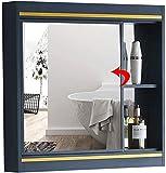 Lamton Bathroom Mirror Cabinet Kitchen Wall Cabinet Versatile Storage Cabinet for Medicines with Single Door Mirror (Color : Blue, Size : 8066cm)