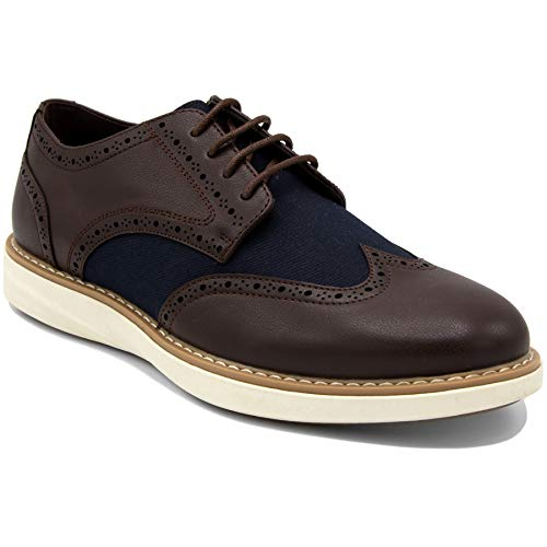 Nautica Men's Wingdeck Oxford Shoe Fashion Sneaker-Brown/Navy-10