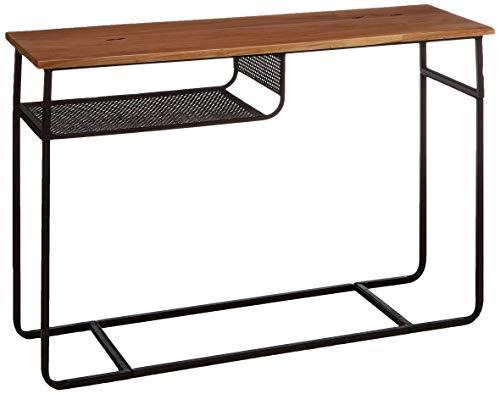 Amazon Marke - Rivet - Konsole mit Regalboden aus Metall, 110x35cm, Ulme/Schwarzes Metallgestell