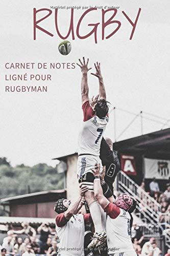 RUGBY: Carnet de notes ligné pour rugbyman