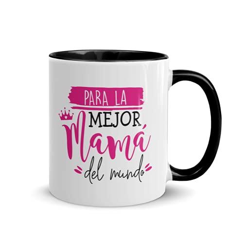Kembilove Taza regalo día de la madre – Tazas Desayuno para Mamá con Mensaje Para la mejor mamá del mundo – Tazas originales – Regalo para madres