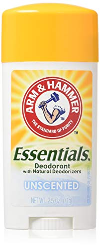 Arm & Hammer Essentials Natural Deodorant, Unscented 2.5oz (Pack of 3)