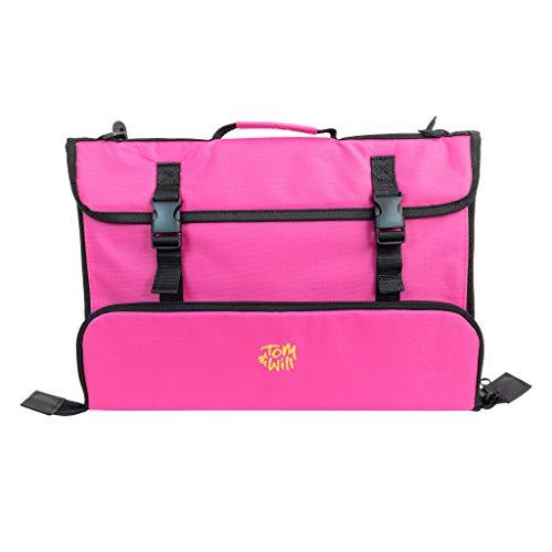 Tomandwill 99MC Musiktasche mit breitem Zubehörfach, pink