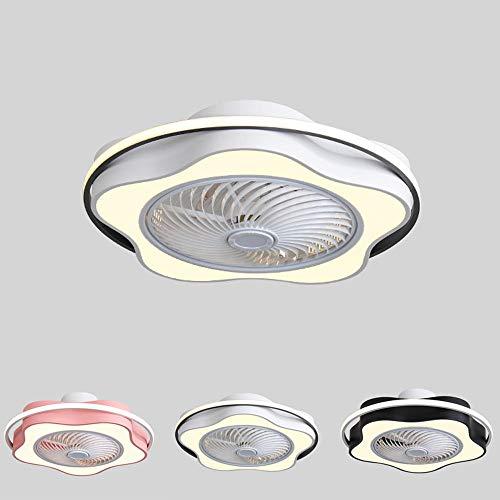 Ventilador de Techo Lámpara de Techo, Moderno LED Luz de techo Control Remoto Regulable, Velocidad del Viento Ajustable Ventilador Lámpara para La Habitación de Los Niños Dormitorio-gris