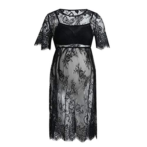 Vestido de encaje para premam, para fotografa, elegante, para embarazo, para mujer, color negro