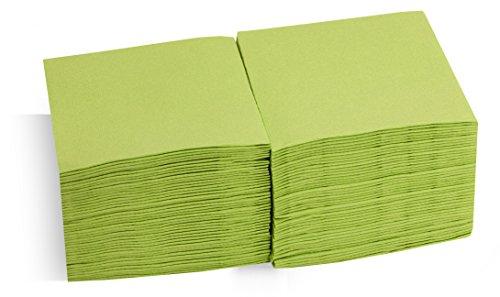 Saten Coktail, Servilleta 20x20, 2 capas, pliegue 1/4, 100 servilletas, punta-punta Kiwi