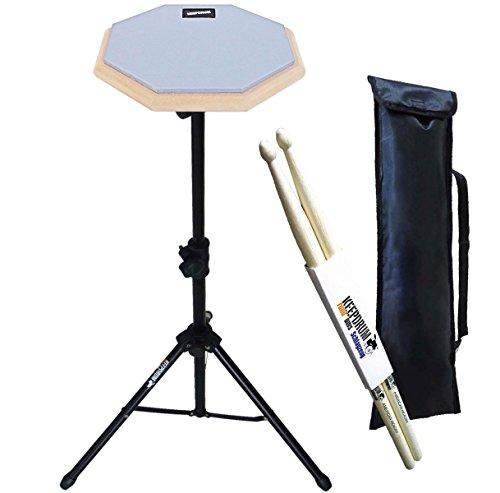 keepdrum DP-GY8 SET Practice Pad Grau mit Stativ und Tasche + Drumsticks