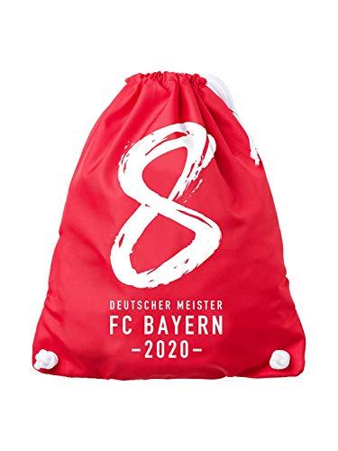 FC Bayern München Sportbeutel Deutscher Meister 2020 rot