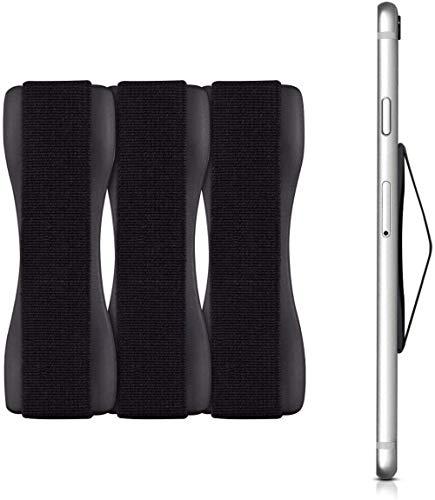 Voarge 3 Pcs Premium Smartphone Finger Halterung Selbstklebender Handy Griff, Smartphonehalter, Selfie Handyhalter, Handy Halter Griff Halterung Einhandbedienung Handyhalter (Schwarz)