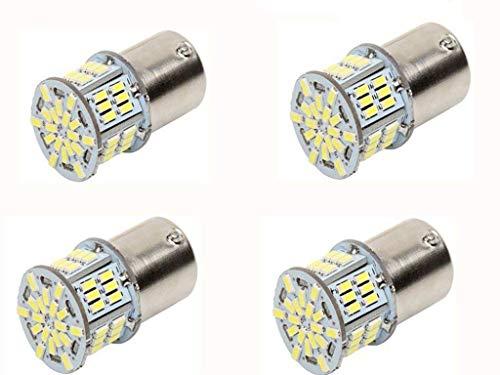 JKLcom 1156 LED Bulbs White Super Bright 1156 1141 1003 1073 BA15S 7506 54 SMD 3014 LED Replacement Light Bulbs for Back Up Reverse Brake Tail Lights,12V,Xenon White 6000K,Pack of 4