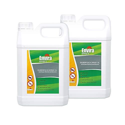 Envira Silberfisch-Spray - Anti-Silberfisch-Mittel Mit Langzeitwirkung - Geruchlos & Auf Wasserbasis - 2 x 5 Liter