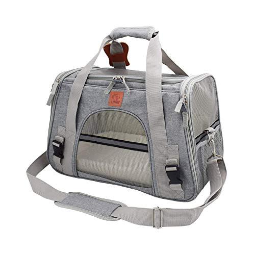 MISS KANG 1 stück pet träger Rucksack Tasche tragbare atmungsaktive katchenträger Rucksack grau Qingchunw