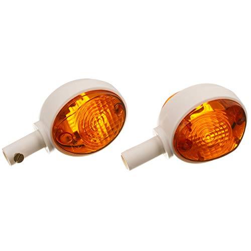 MZA Set: 2 Blinker in Weiß mit orangenem Glas - Simson KR51/1 Schwalbe, KR51/2 Schwalbe, SR4-2 Star, SR4-3 Sperber, SR4-4 Habicht, MZ ES
