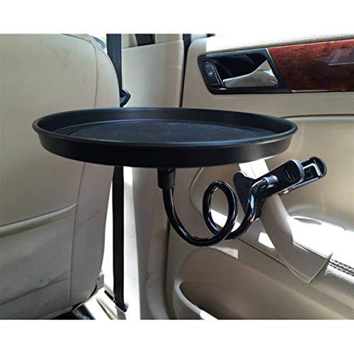 Portavasos para coche Bandeja de alimentos para automóviles con soporte de abrazadera Mesa de comedor plegable Tenedor de bebida Pallet de coche Asiento trasero Agua Holder Copa de coche Coche Bandeja