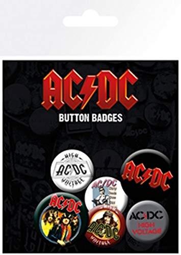 Desconocido Pack de chapas AC/DC Mix, Metal, Standard